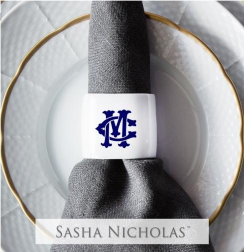 $30.00 Napkin Ring~Custom Monogram Camp~Montgomery