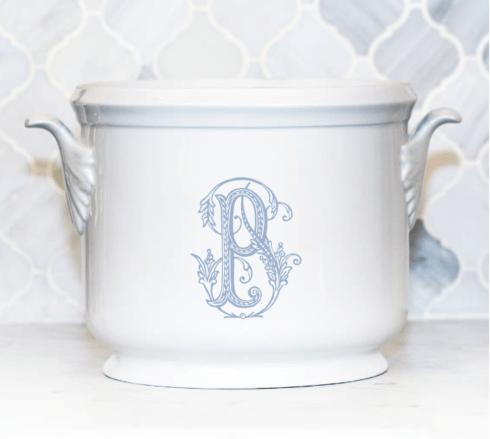 Sasha Nicholas  Couture Monogram~Bridal Registry Champagne Bucket~Light Blue P $185.00