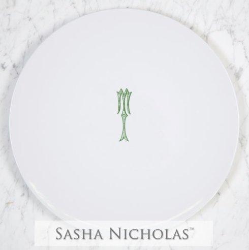 Sasha Nicholas  Romanesque Monogram~Bridal Registry Cake Plate $185.00