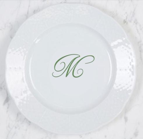 Weave Salad Plate~Custom Monogram Bruyere-McDaniel Registry