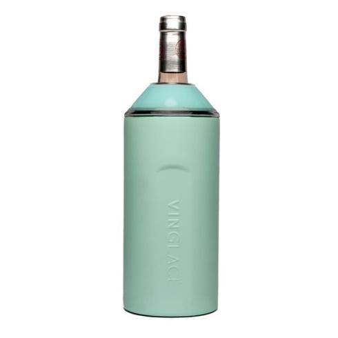 Vinglace   Wine Chiller~Sea Glass Stainless Steel $89.95