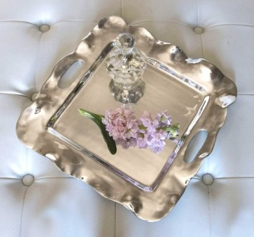Beatriz Ball Vento Rebecca Small Square Tray with Handles