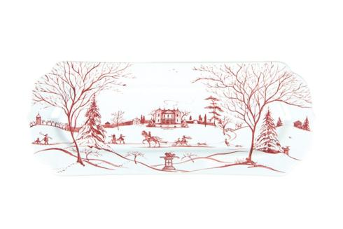 Juliska Country Estate Winter Frolic Ruby Hostess Tray Main House $78.00
