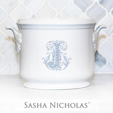 "$185.00 Champagne Bucket~Light Blue ""S"""