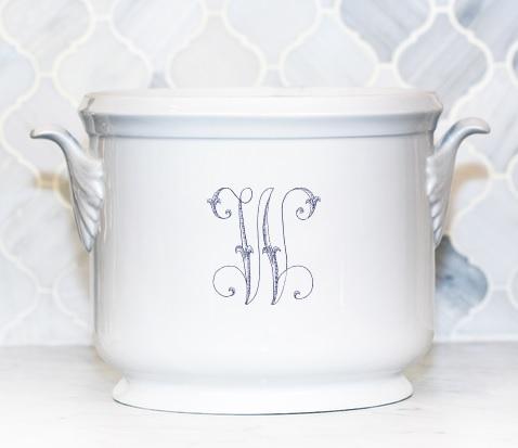 Sasha Nicholas  Script Monogram~Bridal Registry Champagne Bucket  $185.00