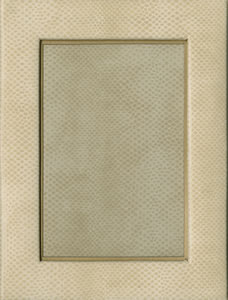 Caspari   Ivory Snakeskin 4x6 Frame $27.50