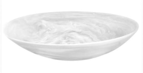 Louis Morgan Exclusives  Nashi Home Large Resin Serving Bowl-White Swirl