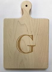 "Maple Leaf at Home   Artisan 9"" Cutting Board Letter G $26.00"