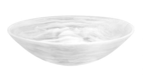 Louis Morgan Exclusives  Nashi Home Medium Resin Bowl-White Swirl
