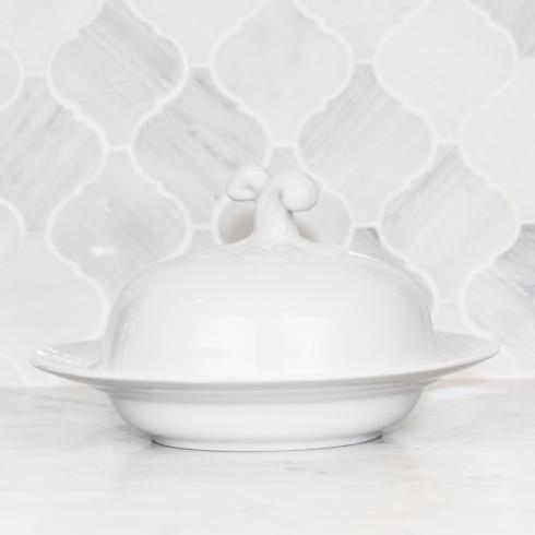 Sasha Nicholas Weave Simply White Weave Simply White Covered Bowl $66.00