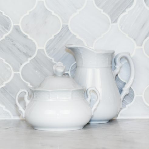 Sasha Nicholas Weave Simply White Weave Simply White Cream and Sugar $76.00