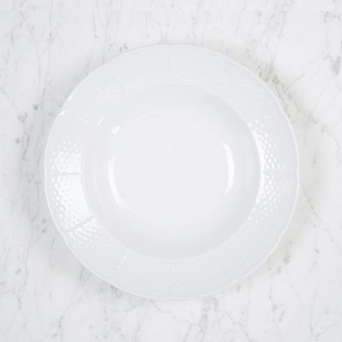 Sasha Nicholas Weave Simply White Weave Simply White Rim Soup Bowl $26.00