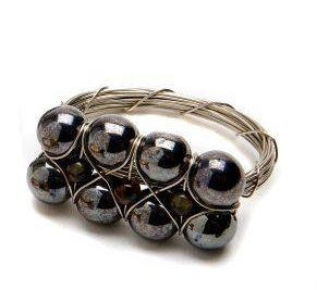 Latona's Exclusives   Storm Bead Bar Napkin Ring $16.00
