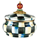 MacKenzie-Childs  Courtly Check Enamelware Squashed Pot Cannister $72.00