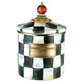 MacKenzie-Childs  Courtly Check Enamelware Cannister Small $76.00
