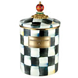 MacKenzie-Childs  Courtly Check Enamelware Cannister Medium $80.00