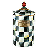 MacKenzie-Childs  Courtly Check Enamelware Cannister Large $84.00