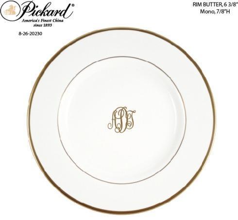 $48.00 Pickard Monogrammed Bread & Butter
