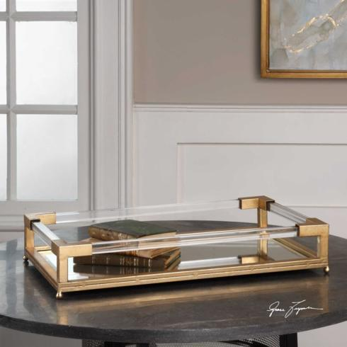 Lucite & Gold Tray collection with 1 products