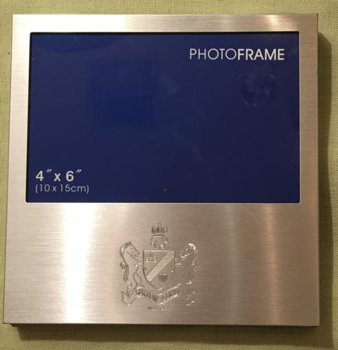 $25.00 4X6 Brushed Metal Frame with Cotton Palace Crest