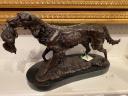 $800.00 BRONZE HUNTING DOG