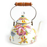 MacKenzie-Childs  Flower Market Enamelware 3 Quart Tea Kettle $135.00