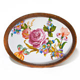 MacKenzie-Childs  Flower Market Enamelware Large Rattan Tray $78.00
