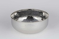 KJLane   NIckel Gold Bead Serving Bowl $100.00
