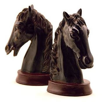 $50.00 Horsehead Bookends