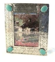 $120.00 4X6 Silver and Turquoise Frame