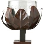 Jan Barboglio  JAN BARBOGLIO Basket Votive with Etched Glass $168.00
