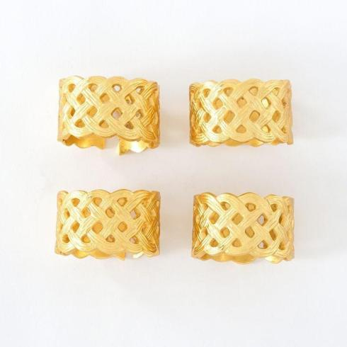 Gold Napkin Rings set/4 collection with 1 products