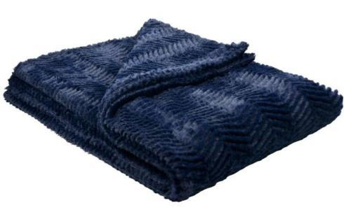 KJLane   Navy Luxe Throw $165.00