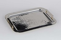 $110.00 Nickel & Gold Bead Tray with handles