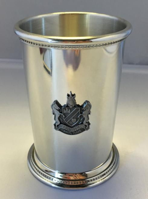 Pewter Julep with Engraved Cotton Palace Crest collection with 1 products