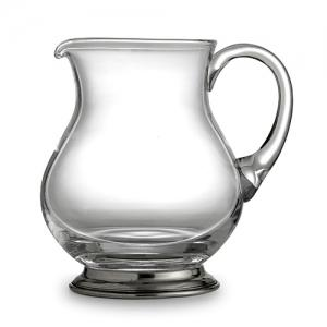 $200.00 Pewter & Glass Pitcher