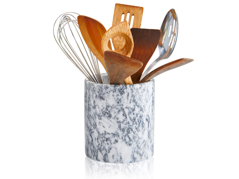 Artland  White Marble Utensil Holder $28.00