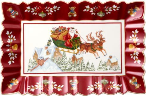 Rectangular Cake Plate: Sleigh Ride