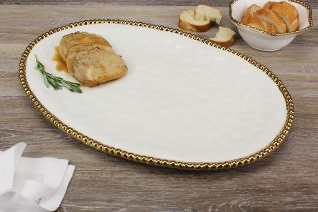 Live With It by Lora Hobbs Exclusives  Pampa Bay Golden Salerno Large Oval Platter $75.00