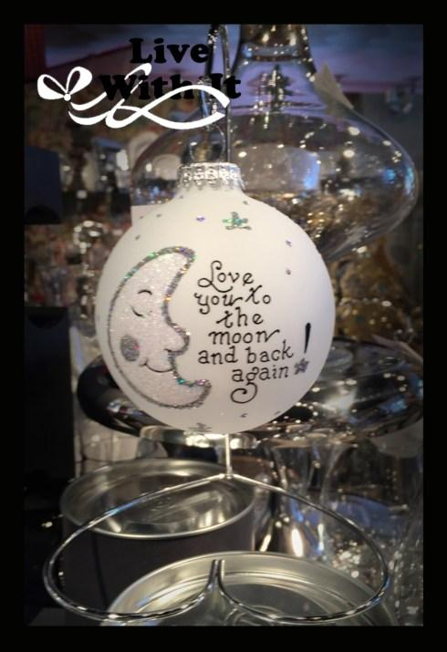 $22.00 Love you to the Moon and Back again Ornament