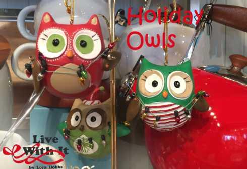 Holiday Owls Ornaments, Assorted Set of 3