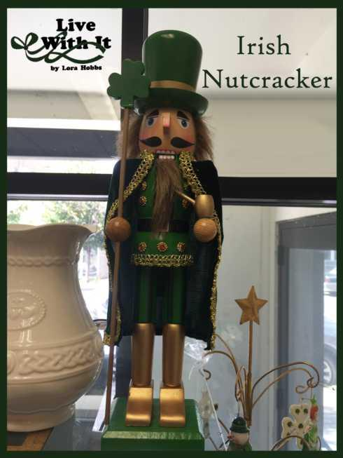 Live With It by Lora Hobbs Exclusives  Christmas Irish Shamrock Nutcracker $35.00
