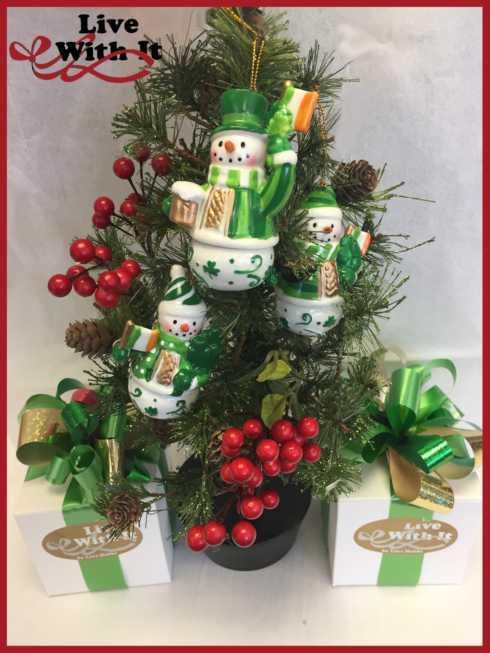 $21.50 Porcelain Irish Snowmen Ornaments, Assorted Set of 3