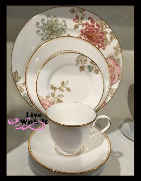 Marchesa by Lenox  Painted Camellia Custom: 5 Piece Place Setting $131.00
