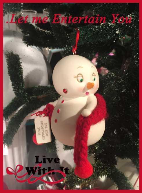 """$14.00 Snowpinions: """" Let me entertain you"""" Ornament"""