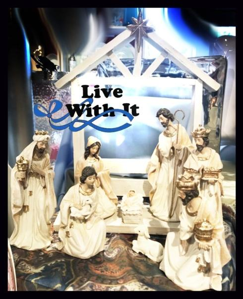Live With It by Lora Hobbs Exclusives  Christmas White Shimmering Nativity Set, 9 Pieces $102.00