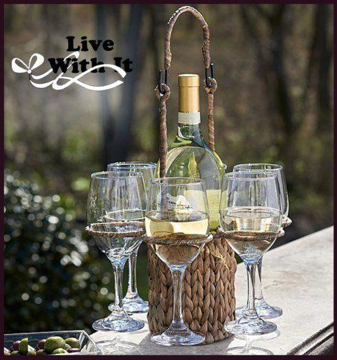 Artland  Simplicity Entertaining Garden Terrace Wine Caddy Set $68.00