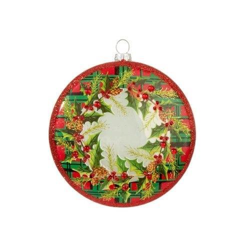 $12.00 Plaid Wreath Disc