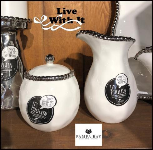 Live With It by Lora Hobbs Exclusives  Pampa Bay Salerno Creamer & Sugar $46.25