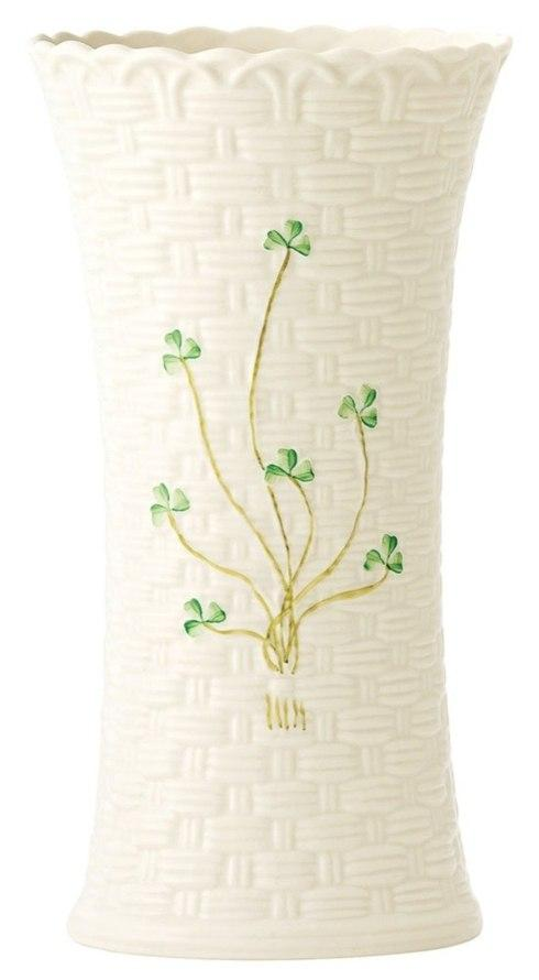 Belleek  Shamrock Giftware Colleen Vase, 10